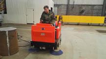 电动扫地机用于铸造行业
